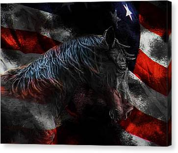 Spirit Of The Mustang Canvas Print by Shannon Story