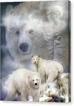 Scene Canvas Print - Spirit Of The White Bears by Carol Cavalaris