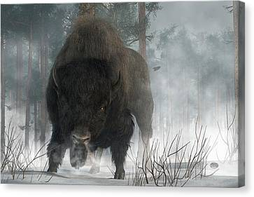 Spirit Of Winter Canvas Print by Daniel Eskridge