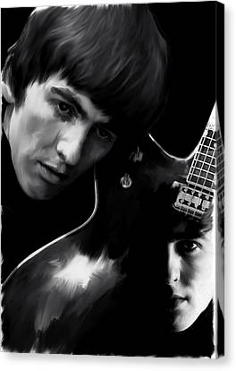 Guitarist George Harrison Canvas Print - Spirit Play George Harrison by Iconic Images Art Gallery David Pucciarelli