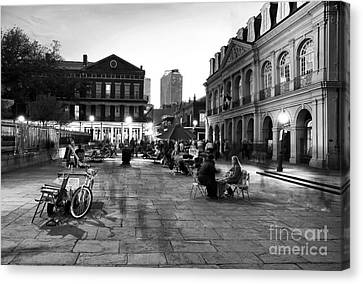 Spirits In Jackson Square Canvas Print by John Rizzuto