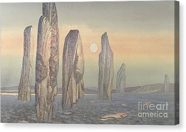 Spirits Of Callanish Isle Of Lewis Canvas Print by Evangeline Dickson