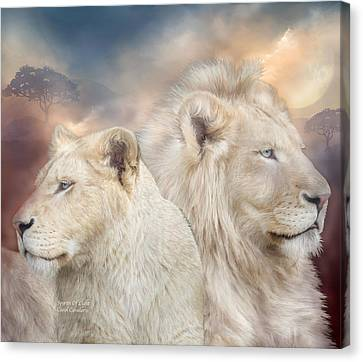 Lions Canvas Print - Spirits Of Light by Carol Cavalaris