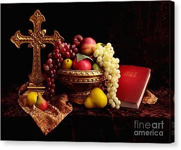 Spiritual Fruit Canvas Print by Pattie Calfy