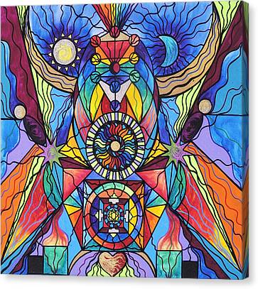 Sacred Canvas Print - Spiritual Guide by Teal Eye  Print Store