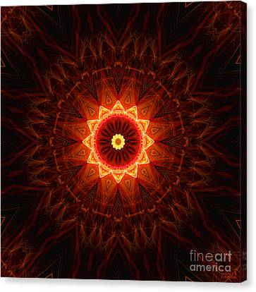 Spiritual Shield Canvas Print by Hanza Turgul