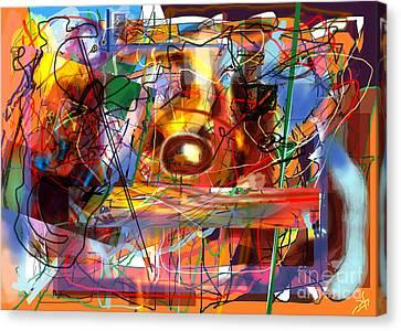 Spiritual Understanding 3 Canvas Print by David Baruch Wolk