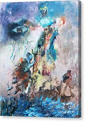 Spiritual Warfare Canvas Print by Ayasha Loya