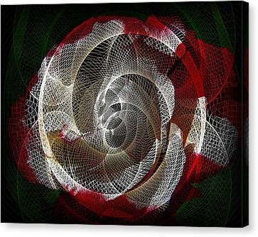 Canvas Print featuring the photograph Spiro by Athala Carole Bruckner