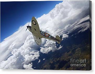 Spitfire Free  Canvas Print