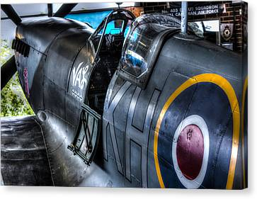 Spitfire Canvas Print by Ian Hufton