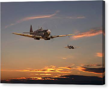 Spitfire - Mission Complete Canvas Print by Pat Speirs