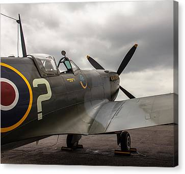Spitfire On Display Canvas Print