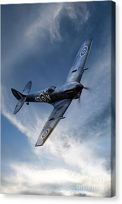 Spitfire Pass Canvas Print by J Biggadike