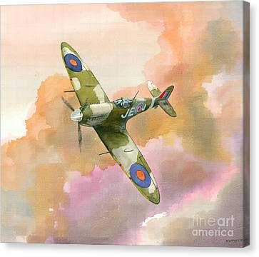 Canvas Print featuring the painting Spitfire Study by Michael Swanson