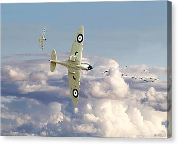 Spitfire - '....to So Few' Canvas Print by Pat Speirs