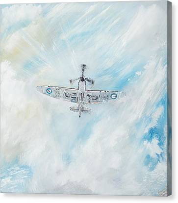 Spitfire Canvas Print by Vincent Alexander Booth