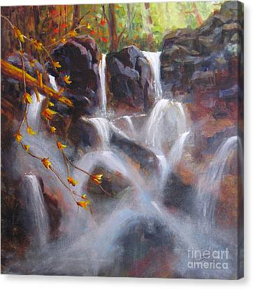 Splash And Trickle Canvas Print by Mohamed Hirji
