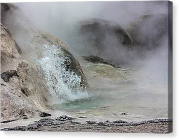 Splash From Grotto Geyser Canvas Print
