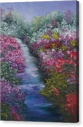 Splash Of Spring Canvas Print by Darice Machel McGuire