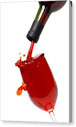 Pouring Wine Canvas Print - Splash by Olivier Le Queinec
