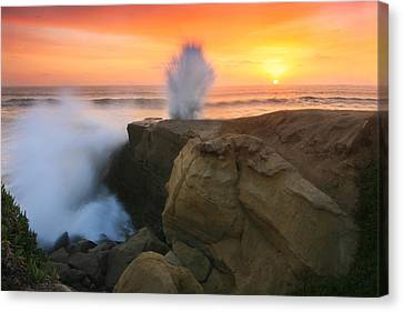 Splash Sunset  Canvas Print