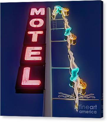 Splashdown Motel Canvas Print by Martin Konopacki