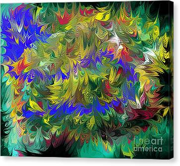 Splashing Through The Puddles Of My Mind Canvas Print by Naomi Richmond