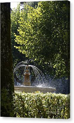 Splashing Water From Fountain Canvas Print by Sami Sarkis