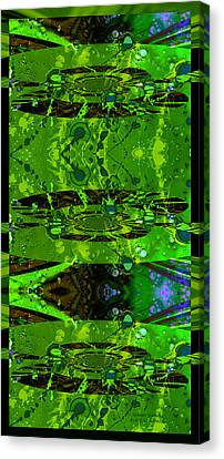 Splatter Galaxy Canvas Print by Robert Kernodle