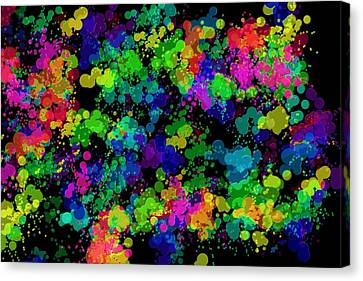Canvas Print featuring the photograph Splatter by Mark Blauhoefer