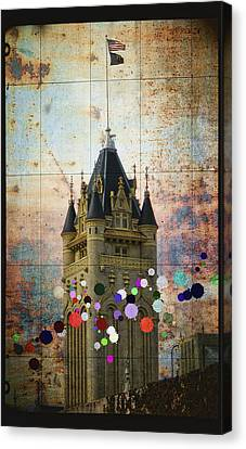 Splattered County Courthouse Canvas Print by Daniel Hagerman