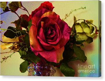 Splendid Painted Rose Canvas Print by Luther Fine Art