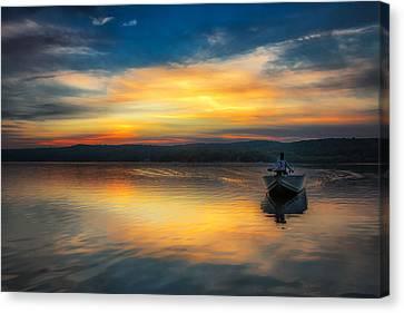 Splendor On The Lake Canvas Print