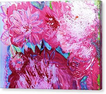 Splishy Splashy Pink And Jazzy Canvas Print by Anne-Elizabeth Whiteway