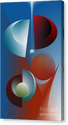 Split Cycle Canvas Print by Leo Symon