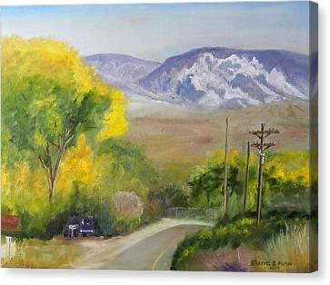Split Mountain On Golf Course Road Canvas Print