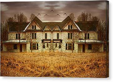 Abandoned House Canvas Print - Split Personality by Nikolyn McDonald