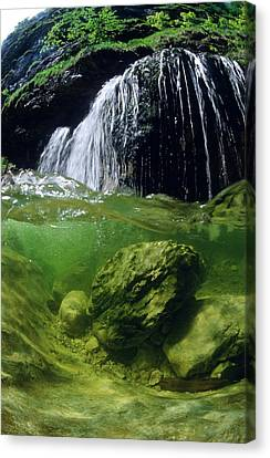 Split-picture From A Waterfall Canvas Print