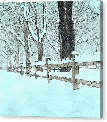 Split Rail Blues Canvas Print by John Stephens
