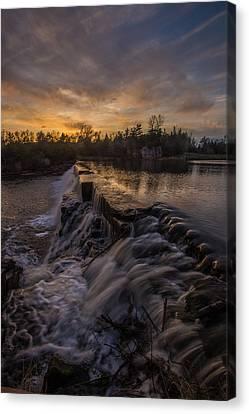 Split Rock Sunset 2 Canvas Print by Aaron J Groen
