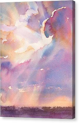 Splits The Silver Lining Canvas Print by Yevgenia Watts