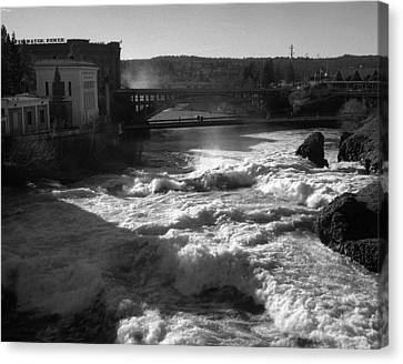Spokane Falls Spring Flow Canvas Print