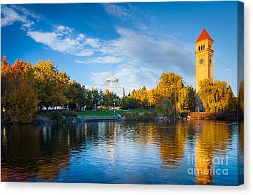 Spokane Reflections Canvas Print by Inge Johnsson