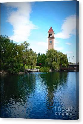Spokane Riverfront Park Canvas Print by Carol Groenen