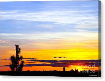 Spokane Wa Sunset Canvas Print by Chris Heitstuman