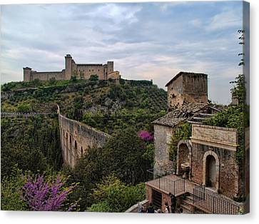 Spoleto And The Appian Way Canvas Print by Hugh Smith