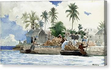 Sponge Fishermen Canvas Print