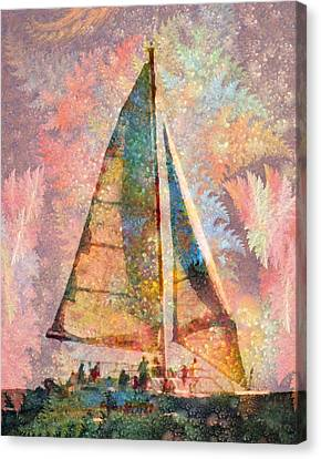 Spontaneity Paradise Nautical Visionary  Canvas Print by Betsy Knapp