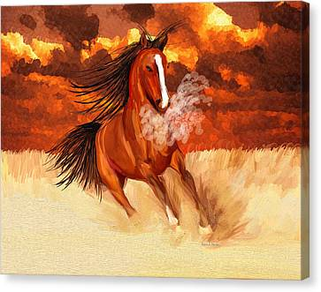 Spooked By The Storm Canvas Print by Angela A Stanton